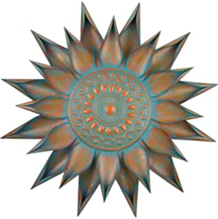 regal art gift patina bloom wall decor 34 inch - Sunburst Wall Decor