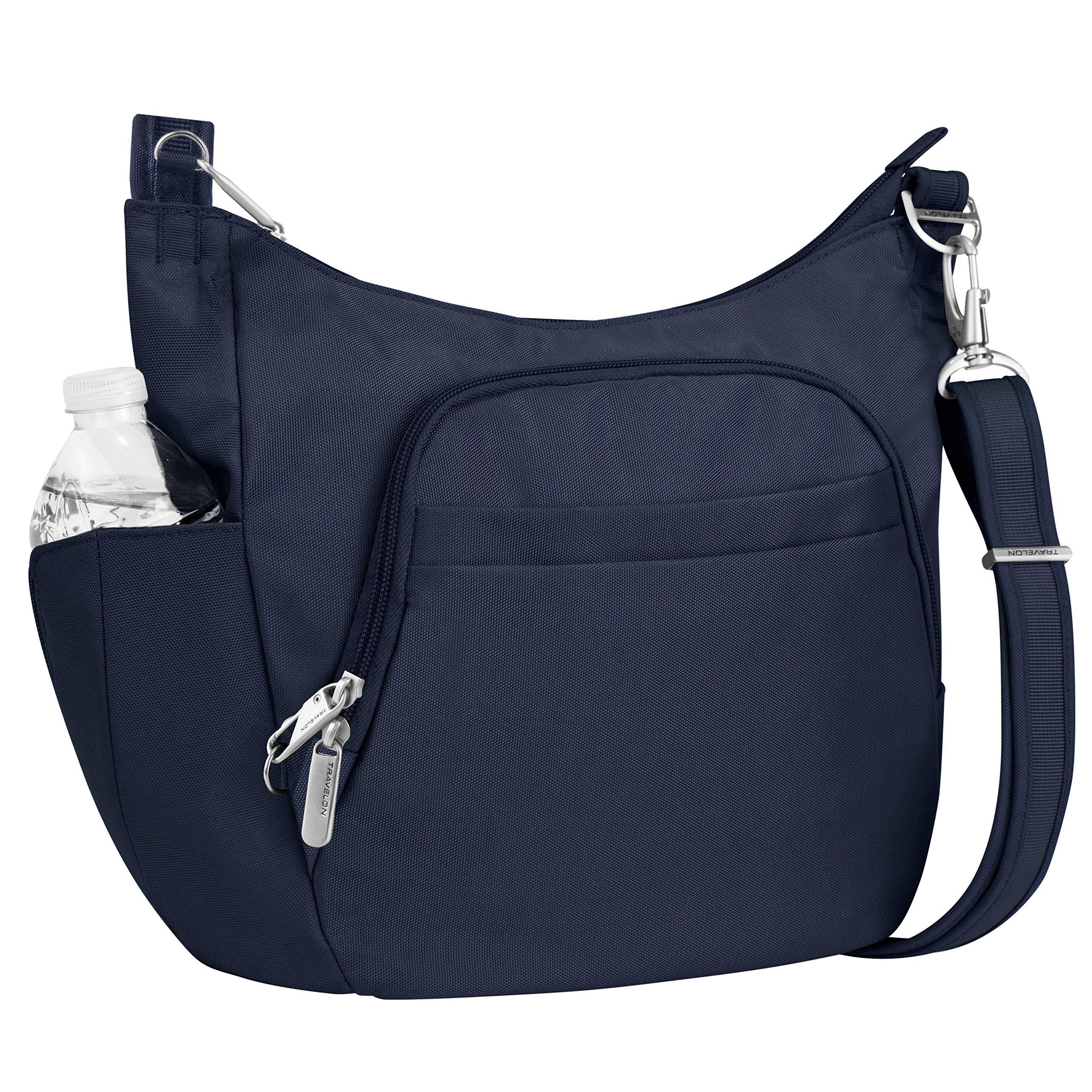 Travelon Anti-Theft Cross-Body Bucket Bag, Midnight, One Size - 42757 360 by Travelon (Image #1)