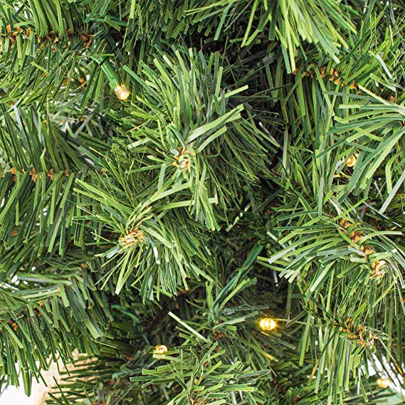 Mini árbol de navidad VARSOVIA, LED, rojo, saco de yute, 60 cm, Ø 40 ...