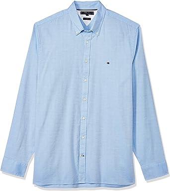 Tommy Hilfiger Slim Flex Essential Dobby Shirt Camisa, Azul ...