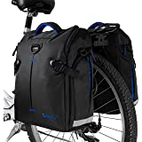 BV Bike Panniers Bags (Pair), Large Capacity, 14 L (each pannier), Black with Detachable Shoulder Straps and All Weather Rain Covers