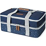Arctic Zone Expandable Thermal Insulated Food Carrier, Large, Navy