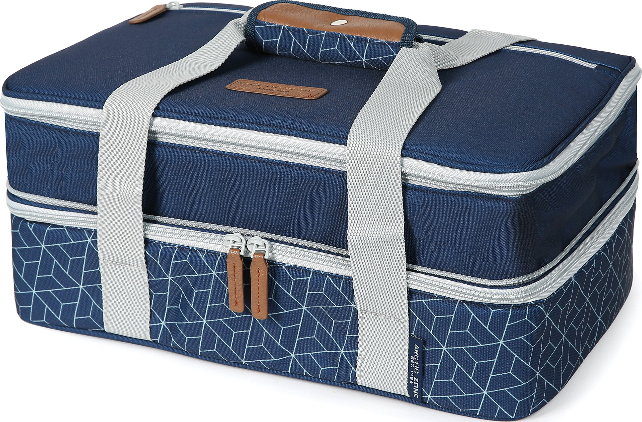 Arctic Zone 2007IL15284B Expandable Thermal Insulated Food Carrier, Navy by Arctic Zone