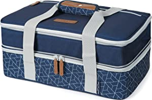 Arctic Zone 2007IL15284B Expandable Thermal Insulated Food Carrier, Navy