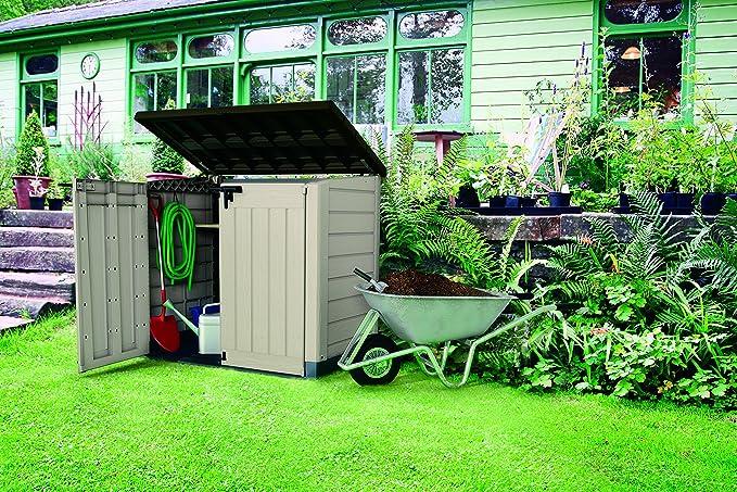 Keter Cobertizo de Almacenamiento Woodland: Amazon.es: Jardín