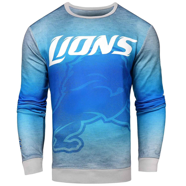 FOCO NFL Mens Printed Gradient Crew Neck Sweater