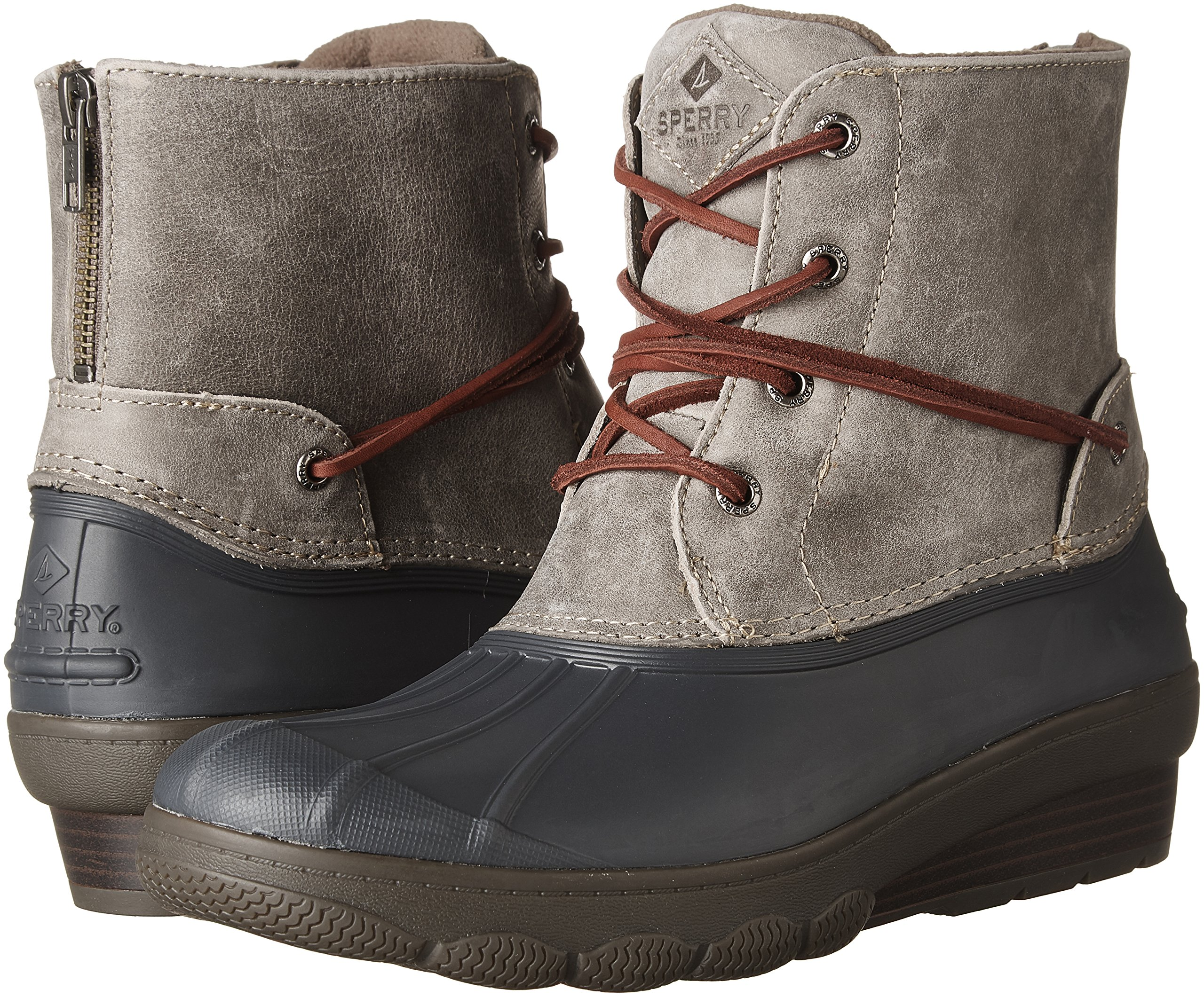 Sperry Top-Sider Women's Saltwater Wedge Tide Rain Boot, Grey, 8 Medium US by Sperry Top-Sider (Image #6)