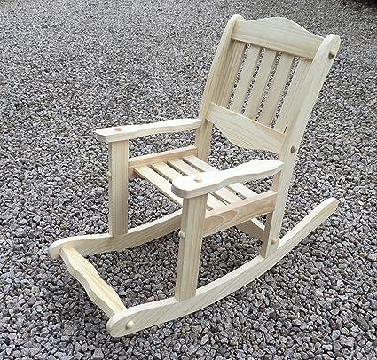 Columpio de madera para niños con diseño de silla de oficina, balancín de silla de