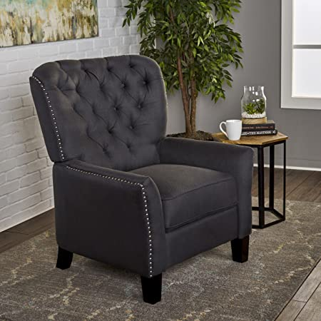 Christopher Knight Home 302625 Ceres Recliner Chair, Charcoal