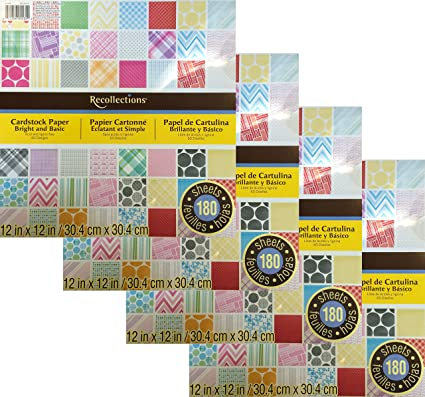 Amazon Four Scrapbook Paper Pads 720 Total Sheets 12x12