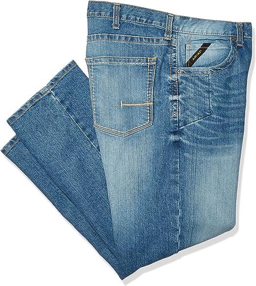 ARIAT Mens Rebar M5 Slim Fit Straight Legjean