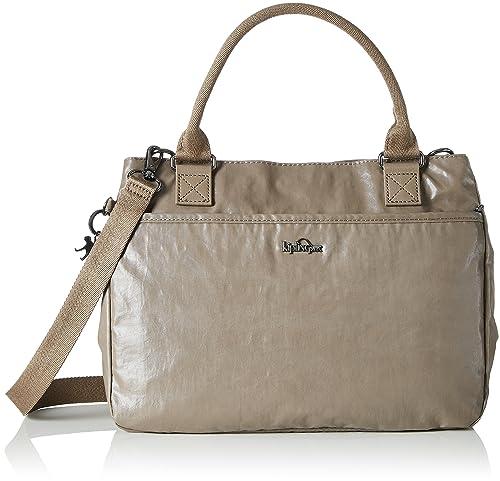 Kipling - Caralisa, Bolsos maletín Mujer, Braun (Lacquer Sand), 34x25x11 cm