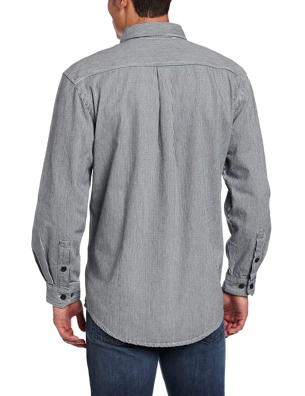 Carhartt Men's Hickory Stripe Shirt Denim Quarter Zip at Amazon ...