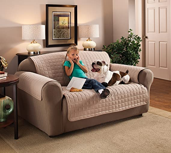 Innovative Textile Microfiber Loveseat Furniture Protector ...