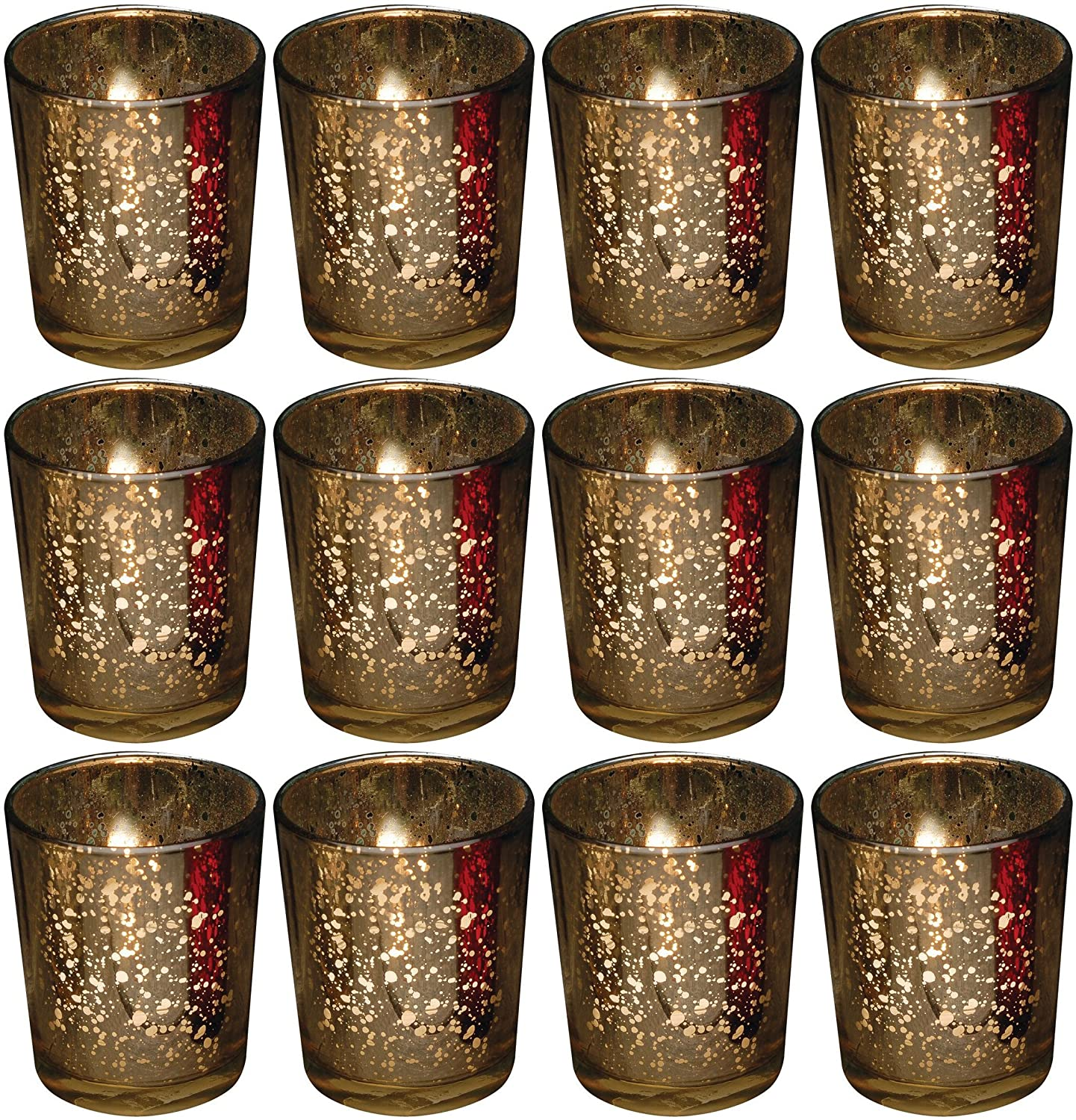 Votive Candle Holder Holds Tealight or Votive Candles Brown Rustic Glass New