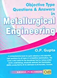 Objective Type Questions and Answers In Metallurgical Engineering
