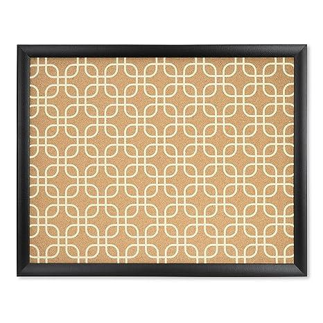 U Brands Cork Bulletin Board, 20 X 16 Inches, Black Wood Frame, Fashion
