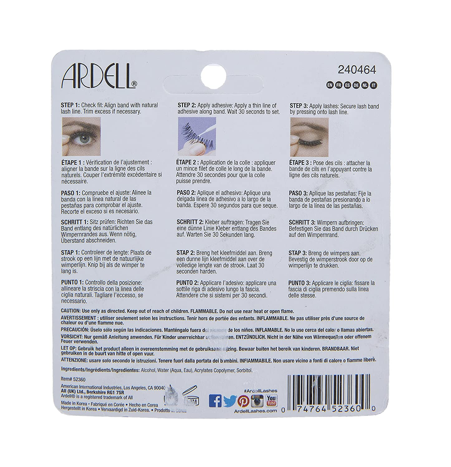 Amazon.com: Maven Gifts: Ardell Multipack Demi Wispies Fake Eyelashes with Brush On Lash Adhesive and Dual Lash Applicator: Beauty