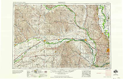 Amazon Com Yellowmaps Fremont Ne Topo Map 1 250000 Scale 1 X 2