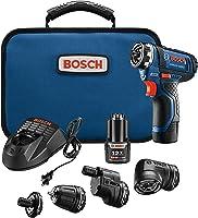 Bosch GSR12V-140FCB22 12V Max Flexiclick 5-In-1 Drill/Driver System