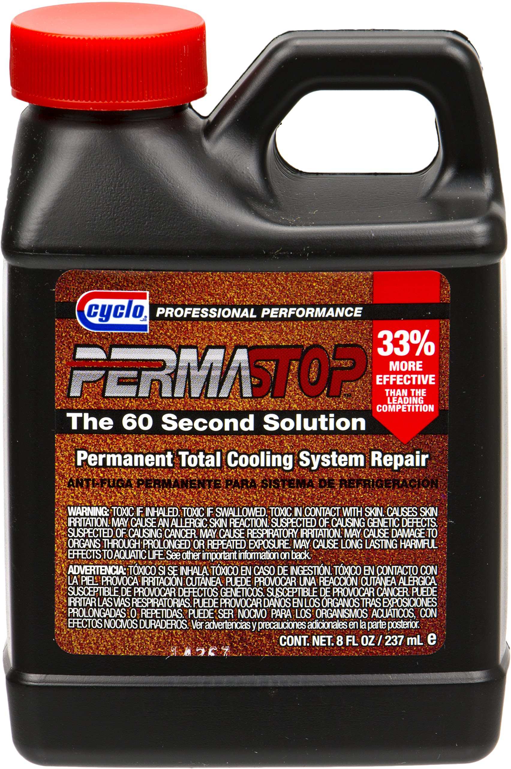 Cyclo PermaStop Permanent Total Cooling System Leak Repair, 8 fl oz, Case of 12 by Cyclo