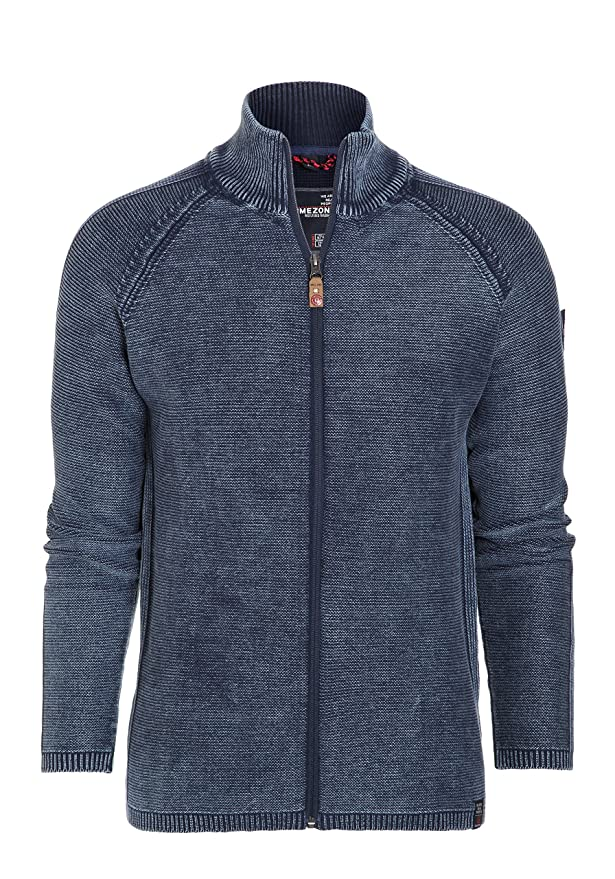 Zip Jacket Vintage, Cárdigan para Hombre, Azul (Total Eclipse 3393), Medium Timezone