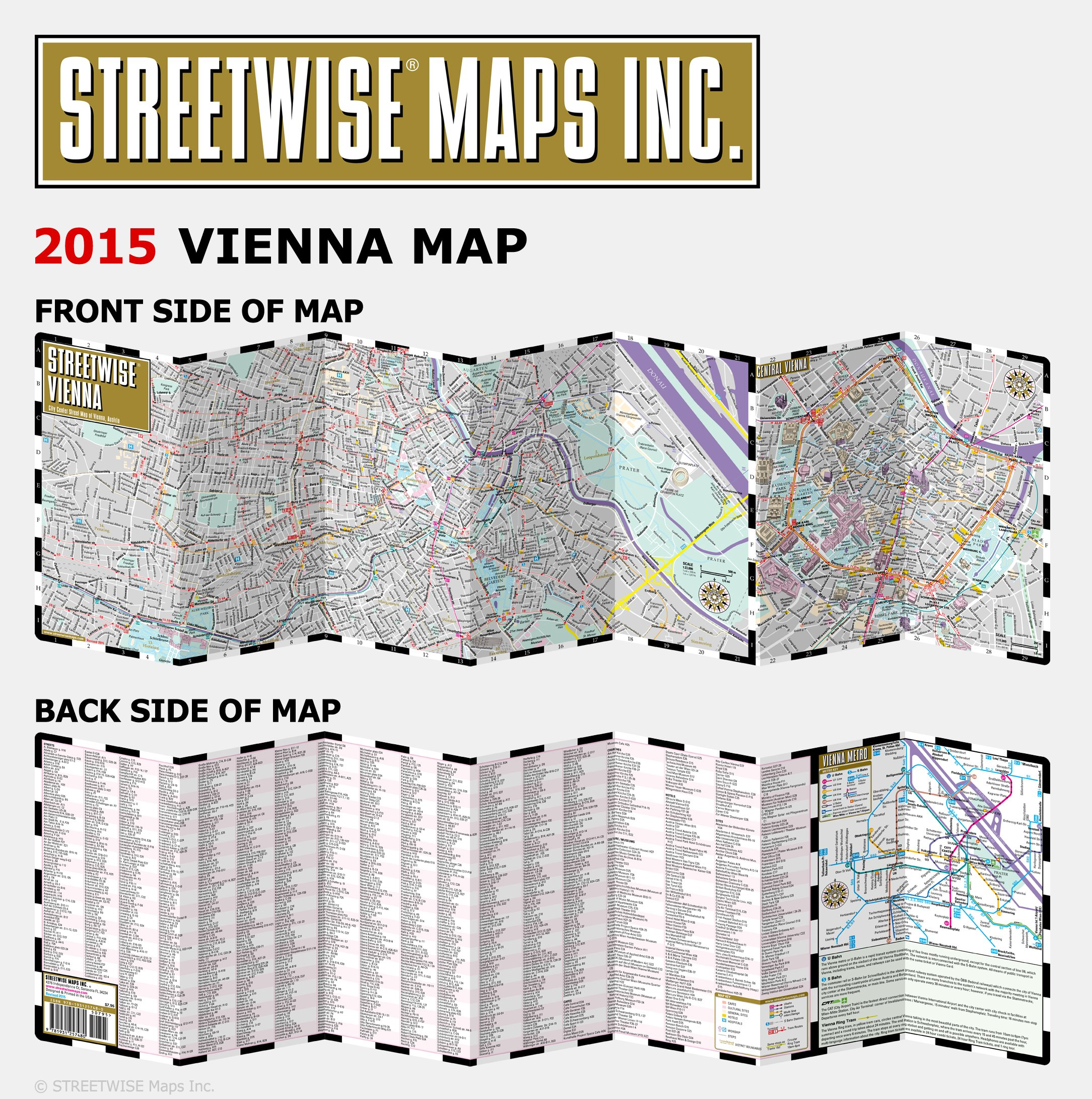 Streetwise Vienna Map Laminated City Center Street Map of Vienna
