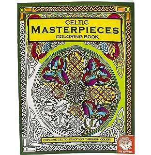 Amazon.com: MindWare – Celtic Mosaic Coloring Book – 23 Unique ...