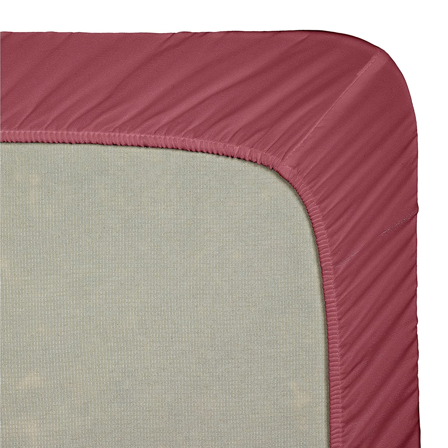 Clara Clark Premier 1800 Collection Single Fitted Sheet Twin Eggplant Purple Sanders Collection VEND-US-CC18-fit-T-Egg