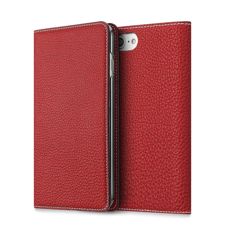 BONAVENTURA ボナベンチュラ iPhone 7 ケース (4.7インチ) ドイツ製本革 牛革 手帳型 (レッド)