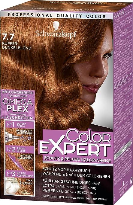 Schwarzkopf Color Expert - Crema intensiva para el cuidado intensivo de color cream, cobre rubio oscuro nivel 3, 3 unidades (3 x 167 ml)