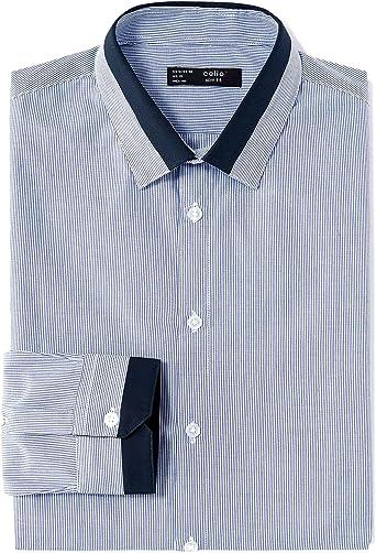 Celio LASTRIPY Camisa Casual, Azul (Bleu 200), M para Hombre ...
