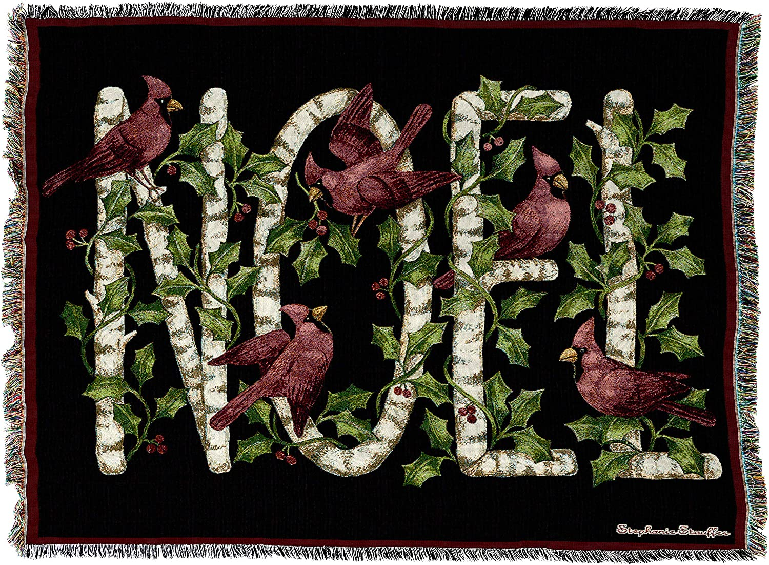 B001GDN7C8 Pure Country Weavers Noel Christmas Cardinal Throw Blanket Woven from 100% Cotton Made in USA 72x54 A1o2FMKLmlL