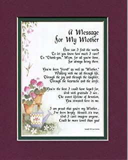 A Mothers Day 50th 60th 70th 80th Birthday Christmas Gift Present Poem For Mom Or