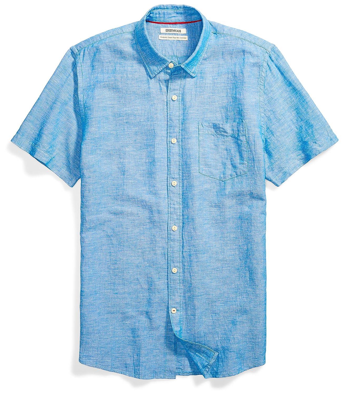 Goodthreads Mens Standard Standard-fit Short-Sleeve Linen and Cotton Blend Shirt MGT25073SP18