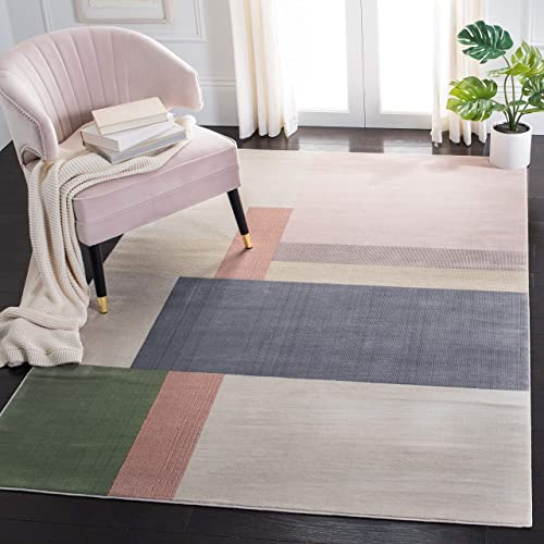 Safavieh Orwell Collection ORW300A Mid-Century Modern Abstract Non-Shedding Stain Resistant Living Room Bedroom Area Rug