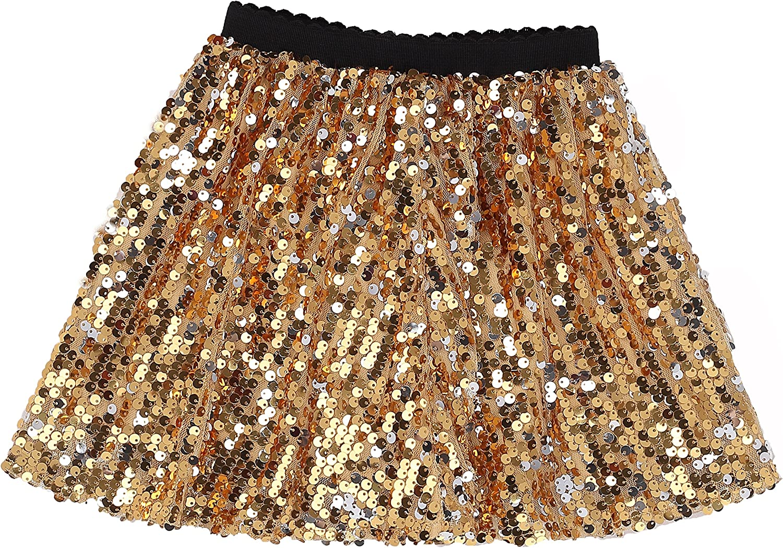 Flofallzique Girls Sequins Skirts Glitter Sparkle Dance Skirt Toddler Tutu Girls Clothes
