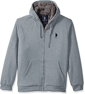 ebc93e55 U.S. Polo Assn. Men's Big and Tall Fully Sherpa Lined Fleece Hoodie ...
