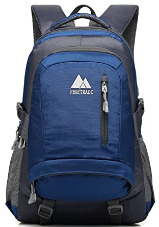 efe520f85a49 Image Unavailable. Image not available for. Color  School Backpack BookBag  For College Travel Hiking Fit Laptop Up to 15.6 Inch Water Resistant (