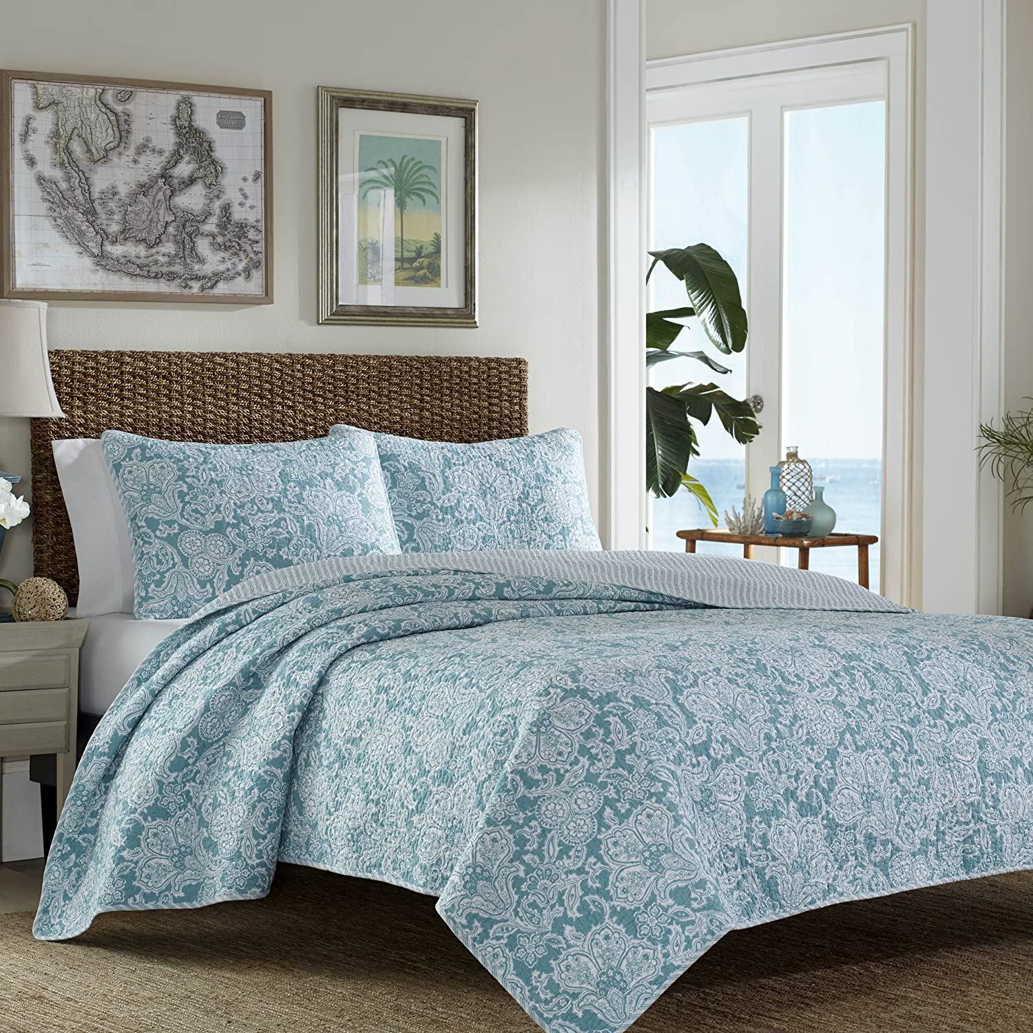 Amazon.com: Tommy Bahama Island Memory Lagoon Quilt Set, Full/Queen,  Lagoon: Home U0026 Kitchen