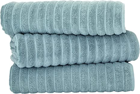 Classic Turkish Towels Luxury Bath Towel Set Soft And Thick Oversized Ribbed Bathroom Towels Made With 100 Turkish Cotton Spa Green 40x65 Bath Sheets Home Kitchen