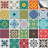 """TP50 - 6"""" Pack of 24 - Printed in 2d Kitchen / Bathroom Tile STICKERS For 150mm (6 inch) Square Tiles – Directly From: TILE STYLE DECALS, No Middleman (6""""- Pack of 24)"""