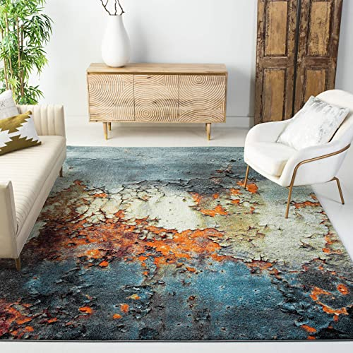 Safavieh Glacier Collection GLA125B Modern Contemporary Abstract Area Rug