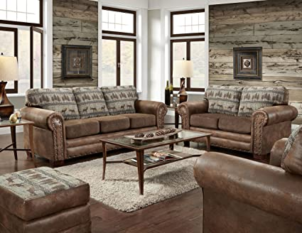 Astonishing American Furniture Classics 4 Piece Set Including Sofa Sleeper Loveseat Chair And Ottoman Deer Teal Tapestry Short Links Chair Design For Home Short Linksinfo