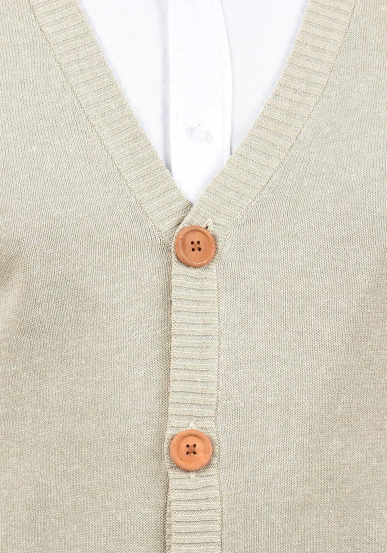 Blend Lennardo Mens Sweater Vest Sleeveless Knit Pullover With V-Neck