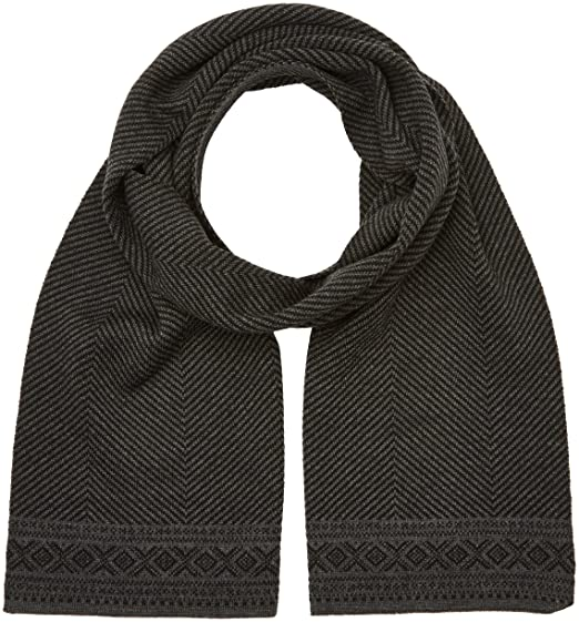 7594c58bf52df Amazon.com  Dale of Norway Unisex Harald Scarf Black One Size  Clothing