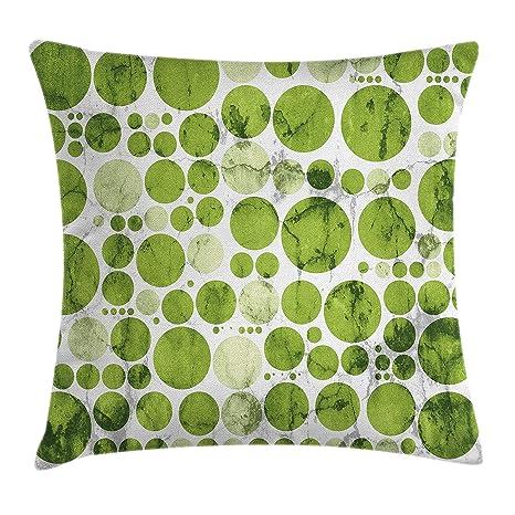 Excellent Amazon Com Lunarable Polka Dots Throw Pillow Cushion Cover Machost Co Dining Chair Design Ideas Machostcouk