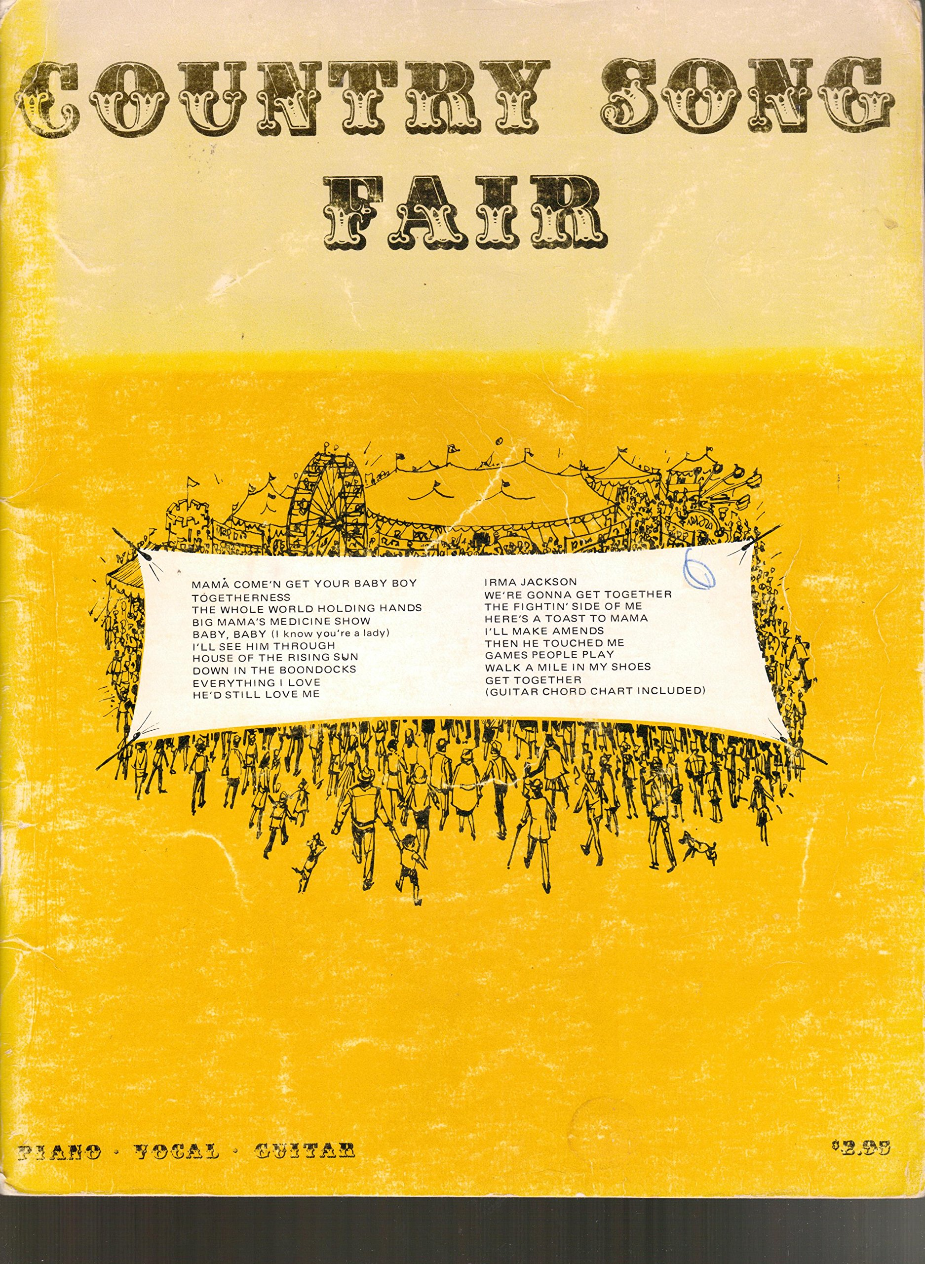 Country Song Fair Piano Vocal Guitar Norris Wilson Alex Harvey