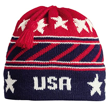 82b95777f630b Image Unavailable. Image not available for. Color  Vermont Originals USA  Stripes Tassel Beanie ...