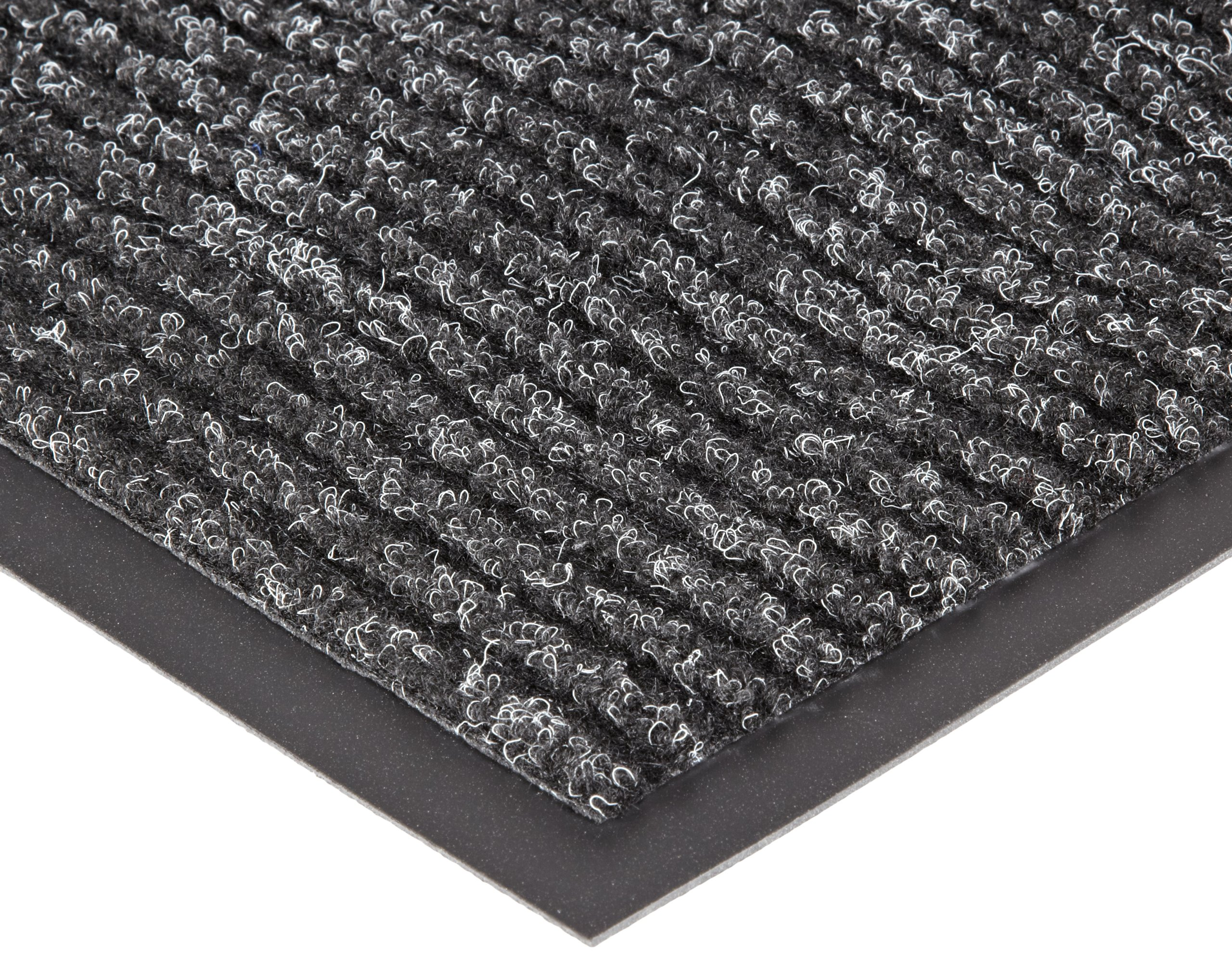 NoTrax 109S0035CH Brush Step Entrance Mat, for Lobbies and Indoor Entranceways, 3' Width x 5' Length x 3/8'' Thickness, Charcoal by NoTrax Floor Matting